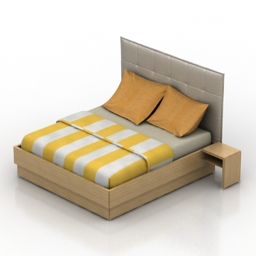 Bed BoConcept Lugano 3d model
