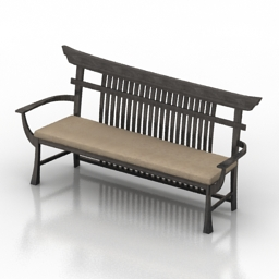 Bench Samurai 3d model