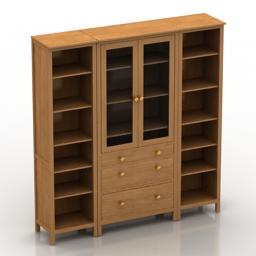 Bookcase IKEA HEMNES 3d model
