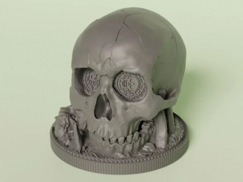Dice Cup Skull