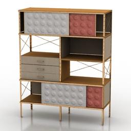 Locker Eames Storage Case 3d model