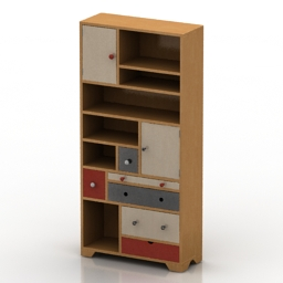Locker kare babalou bookcase 3d model