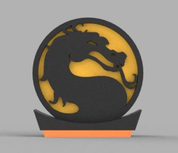 Mortal Kombat Medallion With Stand