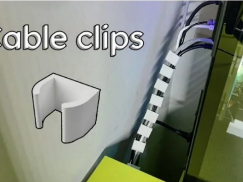Parametric cable clips