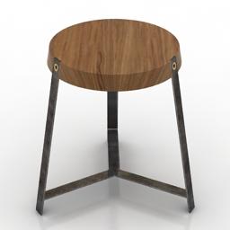 Seat AF3 stool Brenden Feucht 3d model