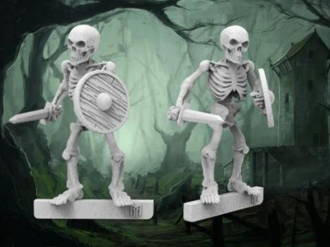 Skeleton Warrior - 28mm wargames fantasy miniature V2 Redux