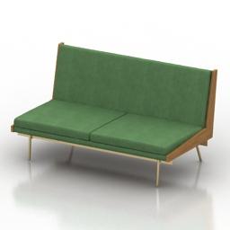 Sofa 195 Alain Richard & Andre Monopoix 3d model