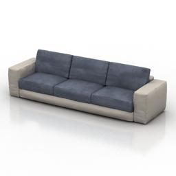 Sofa ROCHE BOBOIS Les Contemporains KARAWAN 3d model