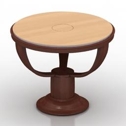 Table Art Deco Rosewood 3d model