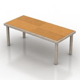 Table Rattan 3d model