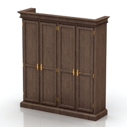 Wardrobe Tonin 1377 3d model