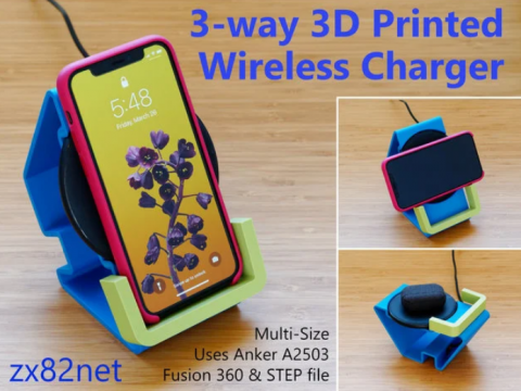 3-way wireless charger