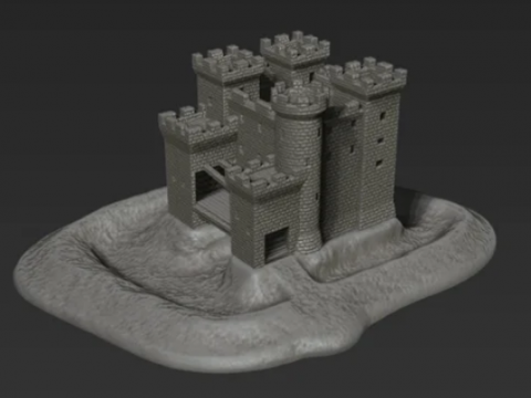 Age of Empires Castle for 3mm miniatures