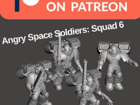 Angry Space Soldiers of Squad 6