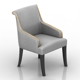 Armchair Mulen Dantone home 3d model