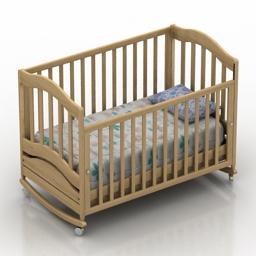Bed child Gandylyan Vanechka 3d model