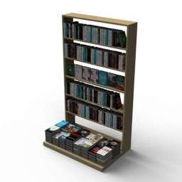Bookshelf Market Stand 3d model
