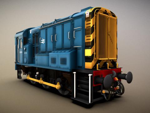 British Rail Class 08 Rail Blue Livery