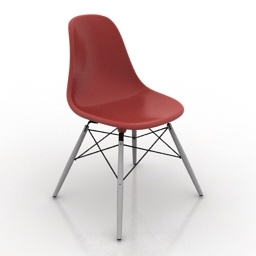 Chair Eames Plastic Side Chair DSW 3d model