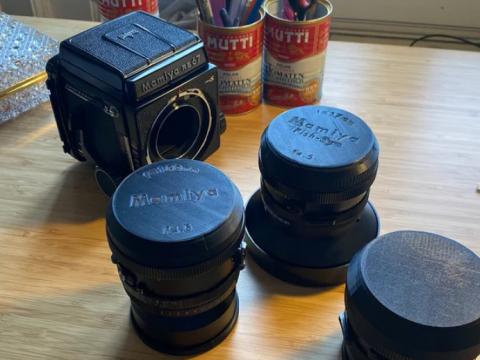 Customisable Rear Lens Cap - Mamiya