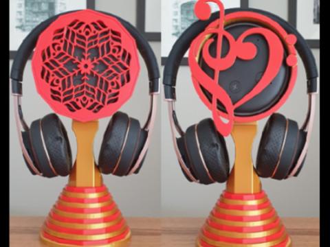 Echo Dot Headphone Stand (2 designs)