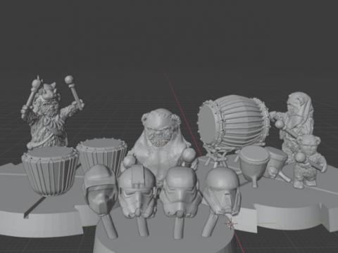 Ewok Drummers (star wars legion scale)