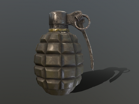 Grenade Low Poly