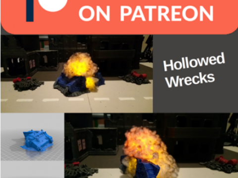 Hollowed wrecks - to include lights