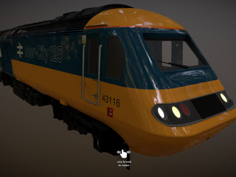 Intercity 125 Rail Blue Livery