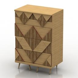 Locker Woodi Big Woo 3d model