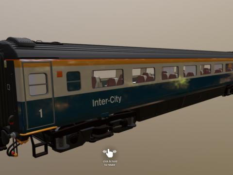 Mark 3 Carriage 1st Open Rail Blue