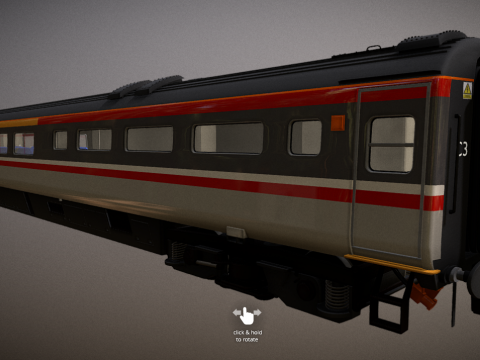 Mark 3 Carriage - BR Swallow Livery - Buffet