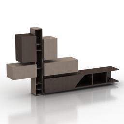 Rack FAST KUBE & FREE SANTAROSSA tv stand 3d model