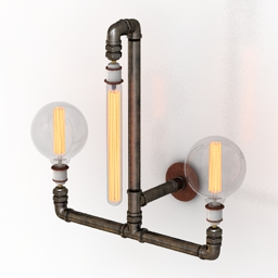 Sconce Pipe lamp 3d model
