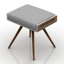 Seat KENJI extreme bench 3d model