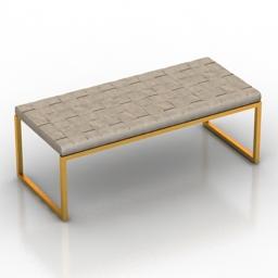 Sofa Minotti Monge Bench 3d model