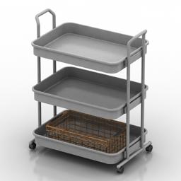 Trolley table 3d model