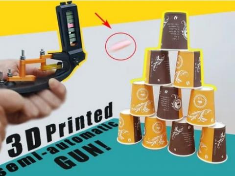 3D Printed semi-automatic GUN