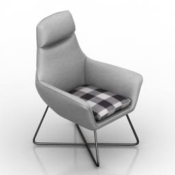 Armchair Divani Casa Rossmoor 3d model