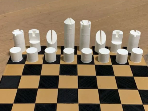 Chess Set F. Lanier Graham Style