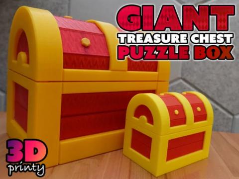 Giant Treasure Chest Puzzle Box