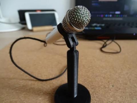 Mini microphone stand