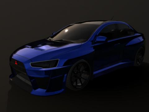 Mitsubishi evo X Wide body(evo 10)