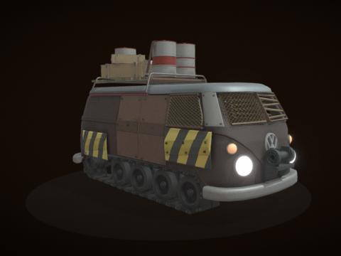 Post-apocalyptic bus