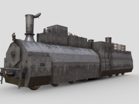 Soviet armoured train locomotive