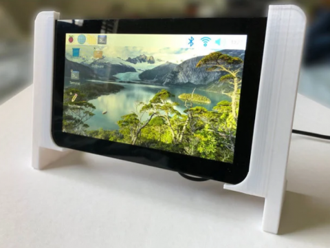 "Table Frame for a Raspberry Pi 7"" Touchscreen - minimalist design"