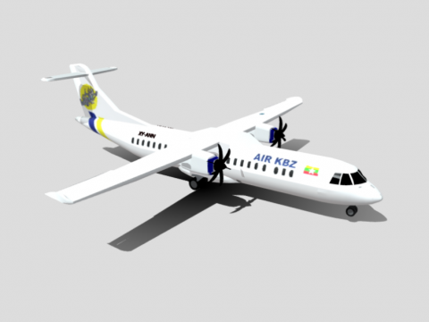 Air KBZ ATR-72 (Domestic)- by Nyi) Animated