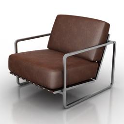 Armchair Alfredo Haberli Zurigo 3d model