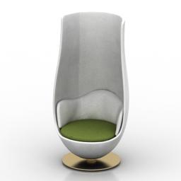 Armchair Cappellini Wanders Tulip 3d model