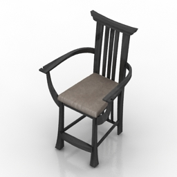 Armchair Samurai 3d model